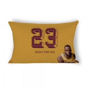 """Basketball"" Cotton and linen Decorative single-sided pillowcase 20""x 30"""