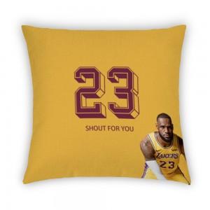"""""""Basketball"""" Blue Light cotton linen pillowcase"""