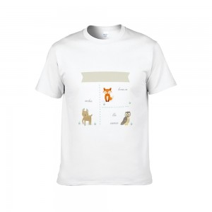"""Animals"" Double-sided Area Printing White T-shirt for Women"