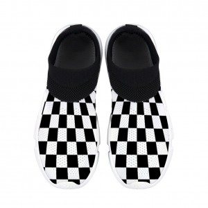 Adult Checkerboard women's sports shoes