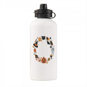 """Halloween Cupcakes"" Sports Water Bottle White 20oz"